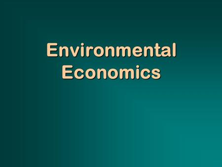 Environmental Economics. Question: What is the difference between nonrenewable and renewable resources, economically speaking?