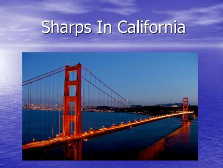 Sharps In California. Amounts of Sharps Collected 2006-07 Agency / Jurisdiction Home - Generated Sharps Material Type Totals (lbs)49,790 Fresno County9,110.
