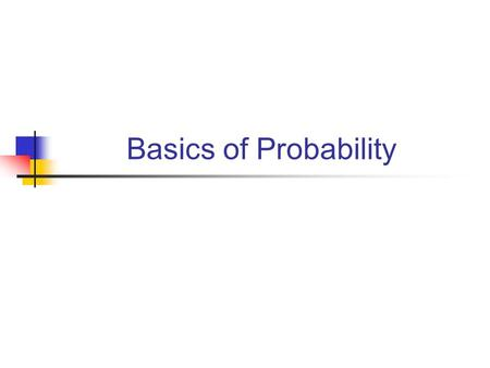 Basics of Probability. A Bit Math A Probability Space is a triple, where  is the sample space: a non-empty set of possible outcomes; F is an algebra.
