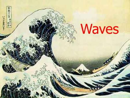 Waves. What's In a Wave? A wave is a disturbance/movement that transfers energy through matter or space.  Waves DO NOT transfer matter, but they DO transfer.
