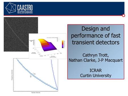 Design and performance of fast transient detectors Cathryn Trott, Nathan Clarke, J-P Macquart ICRAR Curtin University.