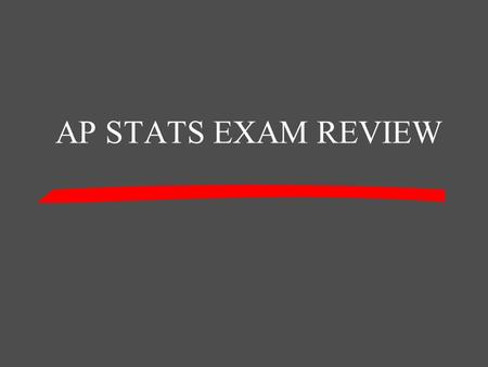 AP STATS EXAM REVIEW 500 400 300 200 100 Chapter 2 Chapter 6Chapter 5Chapter 3 and Chapter 4 Chapter 1.