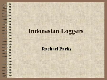 1 Indonesian Loggers Rachael Parks. 2 The Situation A flash flood on the island of Sumatra (the size of Great Britain) killed at least 80 people. 100.
