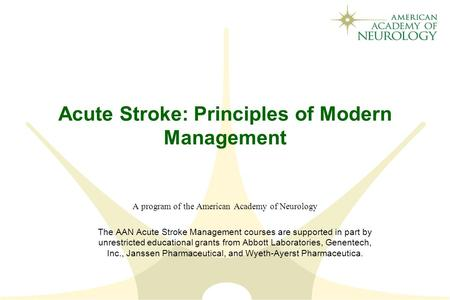 management of stroke stroke definition stroke is clinically defined as a neurologic