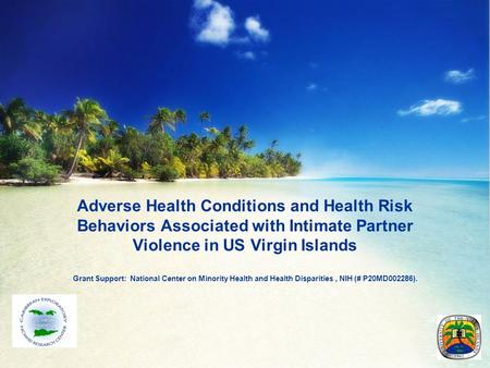 Adverse Health Conditions and Health Risk Behaviors Associated with Intimate Partner Violence in US Virgin Islands Grant Support: National Center on Minority.