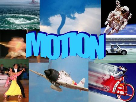 How do you know if something is in motion? Motion – changing position in space.