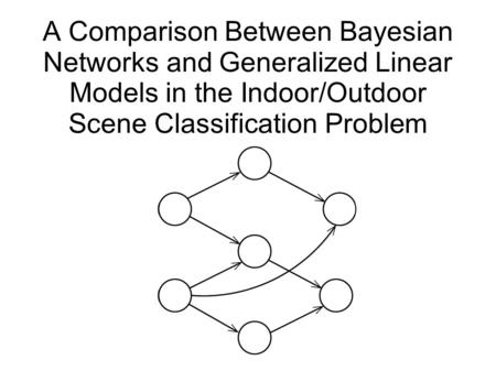 A Comparison Between Bayesian Networks and Generalized Linear Models in the Indoor/Outdoor Scene Classification Problem.