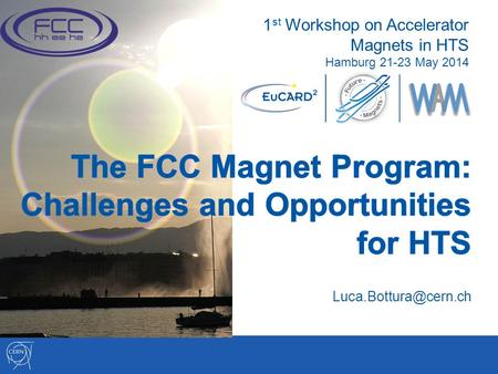 1 st Workshop on Accelerator Magnets in HTS Hamburg 21-23 May 2014.
