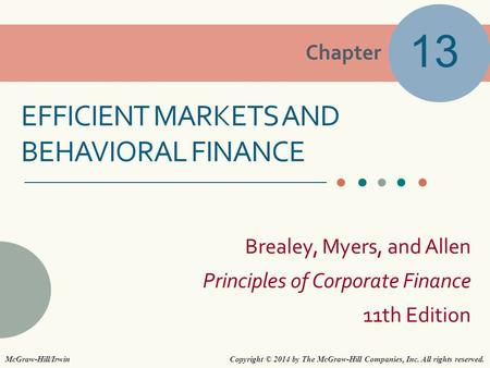 Efficient Markets and behavioral finance