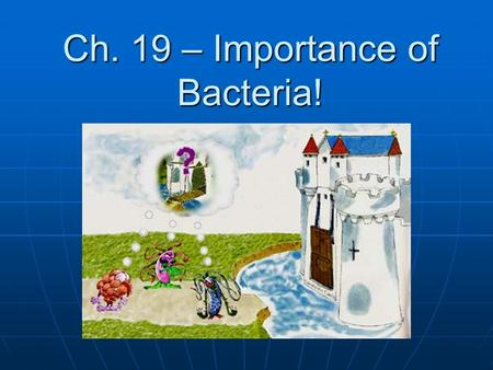 Ch. 19 – Importance of Bacteria!. Used in food – yogurt, cheese, sauerkraut Used in food – yogurt, cheese, sauerkraut Decompose dead things Decompose.
