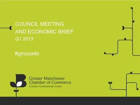 COUNCIL MEETING AND ECONOMIC BRIEF Q1 2013 #gmcca4b.