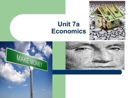 Unit 7a Economics. American Free Market System Introduction Challenges in a free market Supply and Demand Economic systems The U.S. economy Factors of.