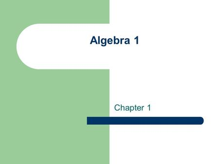 Algebra 1 Chapter 1. Chapter 1 Section 1 Vocabulary Variable Constant Numerical expression Algebraic expression Evaluate Replacement set.