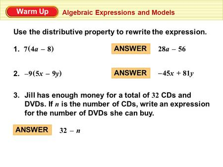 Rewriting exponential expressions