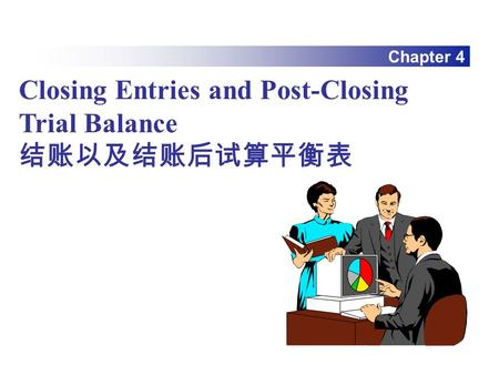 Chapter 4 Closing Entries and Post-Closing Trial Balance 结账以及结账后试算平衡表.