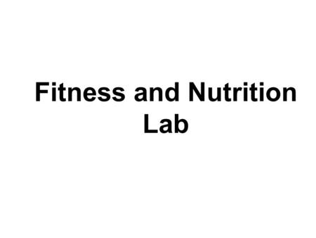 Fitness and Nutrition Lab. Part III Follow the links to your favorite fast food restaurant: McDonald's:  ood/nutrition_facts/index.htmlhttp://www.mcdonalds.com/countries/usa/f.