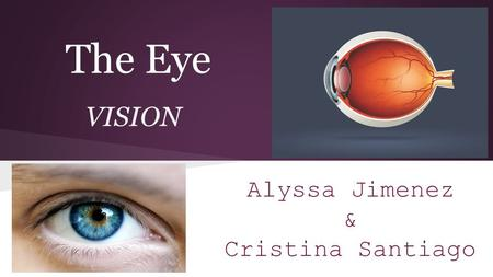 The Eye VISION Alyssa Jimenez & Cristina Santiago.