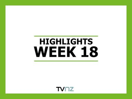 HIGHLIGHTS WEEK 18. TV ONE'S COAST WATCH GROWS AUDIENCES WOW & YOY ACROSS THE KEY DEMOGRAPHICS Source: Nielsen TAM. Same Week Last Year W/C 03/05/09.