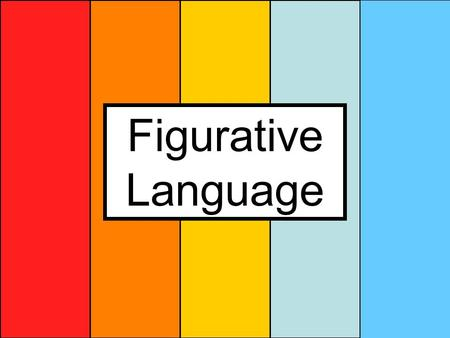 Figurative Language. Why figurative language? Literal language – is what is on the surface Figurative language – is what is below the surface – this requires.