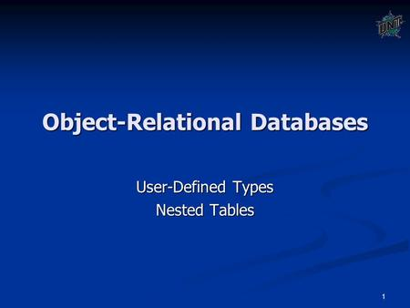 object relationship types
