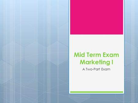 marketing mid term Marketing midterm  why segment markets - a business firm segments its markets so it can respond more effectively to the wants of groups of potential buyers and.