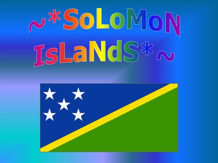 Solomon Islands Solomon Island people The Solomon Islands have a population of about 480,442 (July 2001 est.) Age structures: ­0-14 years: 43.79% (male.