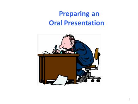 Preparing an Oral Presentation 1. Five Areas of Focus Preparation Organization Audience rapport Visual aids Delivery 2.
