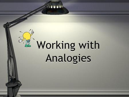 analogy word and pair In 2005, major changes made to the question types in the reading and math sections of the sat two types of comparison questions - quantitative comparison questions from math, and analogies from reading - were booted from the sat.