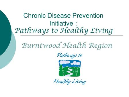 Chronic Disease Prevention Initiative : Pathways to Healthy Living Burntwood Health Region.