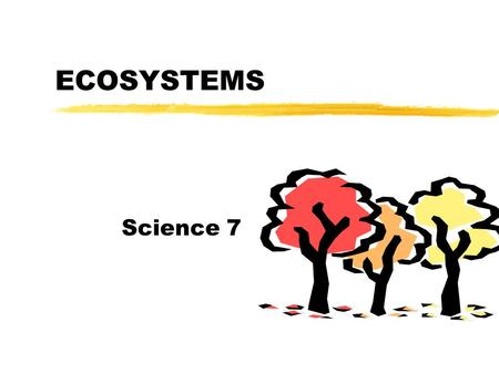 ECOSYSTEMS Science 7 Habitat vs. Niche zProvides needs yFood yWater yShelter yGas used  Food type and how it gets it  Location of home burrow,nest,