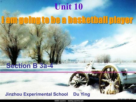 Unit 10 I am going to be a basketball player Section B 3a-4 Jinzhou Experimental School Du Ying.