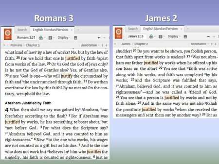 Romans 3 James 2. Apparent Contradiction? God's Perfection.