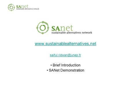 Brief Introduction SANet Demonstration.