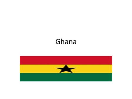 Ghana. The Republic of Ghana is a country located in West Africa. The word Ghana means Warrior King and is derived from the ancient Ghana Empire. The.