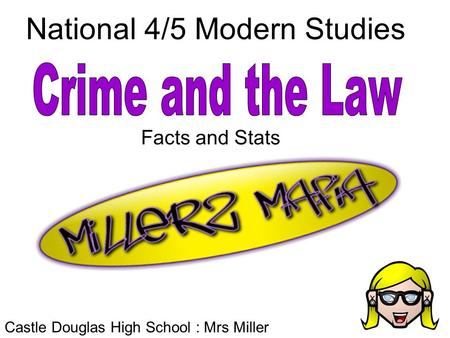 National 4/5 Modern Studies Castle Douglas High School : Mrs Miller Facts and Stats.