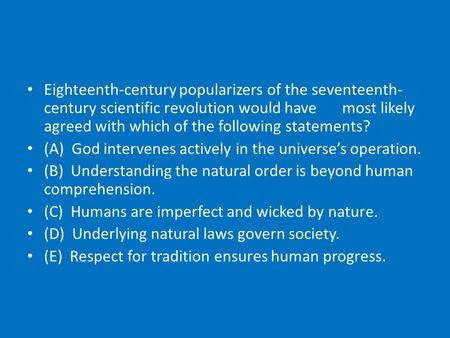 scientific revolution of the 16th and 17th century