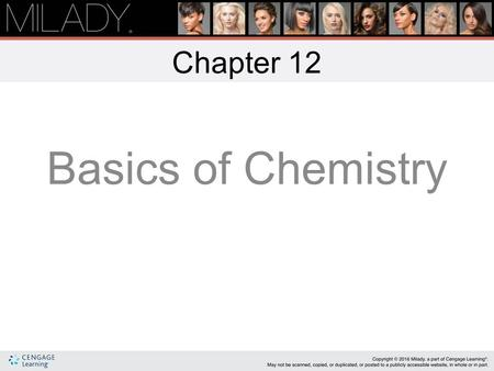 Basics of Chemistry Chapter 12 Learning Objectives List the difference between organic and inorganic chemistry. Categorize and give examples of different.
