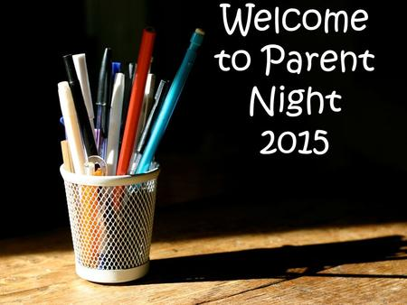Welcome to Parent Night 2015. Mrs. Cashmore 6th year teaching at West 16th year with District 47 Bachelor Degree in Early Childhood Education Master's.