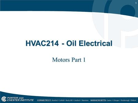 HVAC214 - Oil Electrical Motors Part 1.