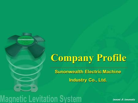sunonwealth electric machine industry co ltd