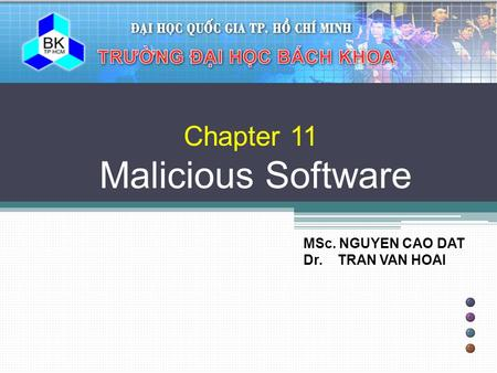 Chapter 11 Malicious Software
