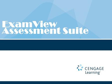 ExamView Assessment Suite. Book specific content on each ExamView CD. What is ExamView?