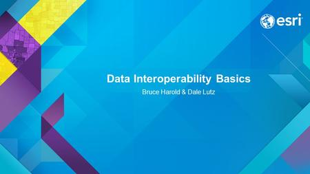 Data Interoperability Basics Bruce Harold & Dale Lutz.