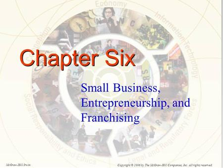 Chapter Six Small Business, Entrepreneurship, and Franchising Copyright © 2006 by The McGraw-Hill Companies, Inc. All rights reserved. McGraw-Hill/Irwin.