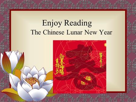 Enjoy Reading The Chinese Lunar New Year Lantern Festival lanterns rice dumplings set off fireworks.