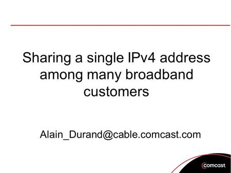 Sharing a single IPv4 address among many broadband customers