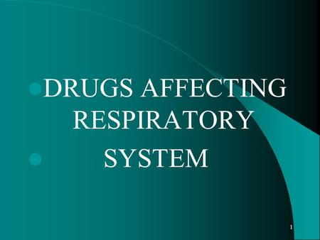 1 DRUGS AFFECTING RESPIRATORY SYSTEM. 2 ASTHMA chronic inflammatory airway disease excessive tracheobronchial reactivity SYMPTOMS wheezing, chest tightness,