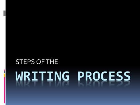 writing process powerpoint presentation middle school School & education powerpoint ppt template design  how to write a  professional powerpoint presentation (discover the writing process.