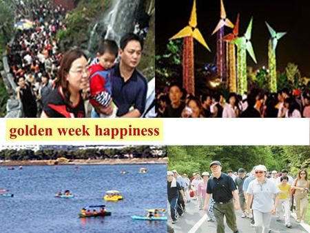 Golden week happiness. Why is traveling becoming more and more popular? Brainstorming.