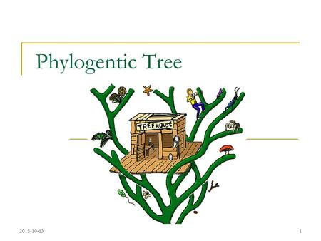 2015-10-131 Phylogentic Tree. 2015-10-132 Evolution Evolution of organisms is driven by Diversity  Different individuals carry different variants of.